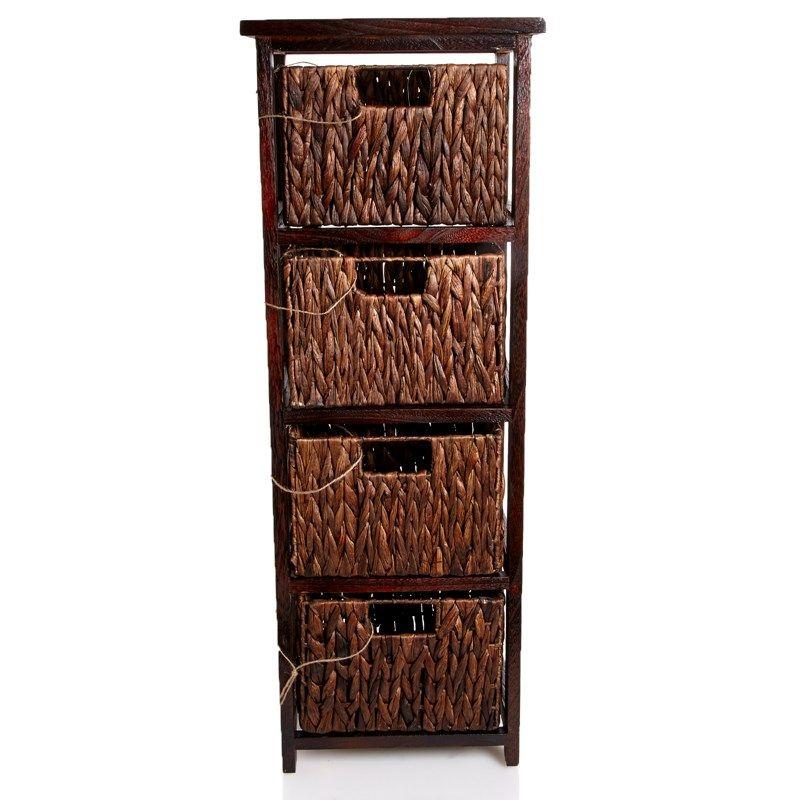 At Burlington Coat Factory 39 99 Wood Wicker 4 Drawer Storage