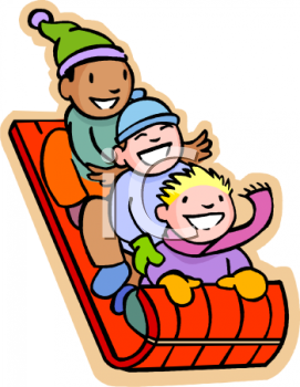cartoon people sledding royalty free clipart image children rh pinterest com sled riding clipart sled clipart images