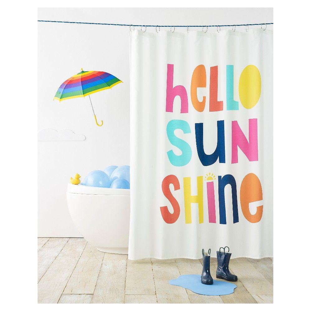 Hello Sunshine Shower Curtain White Pillowfort In 2020 Kid