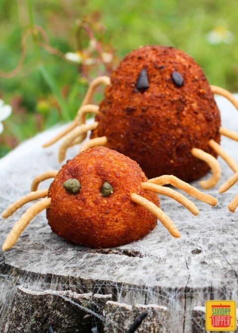 Stuffed Potato Spiders Halloween Pinterest Stuffed potatoes - spooky food ideas for halloween