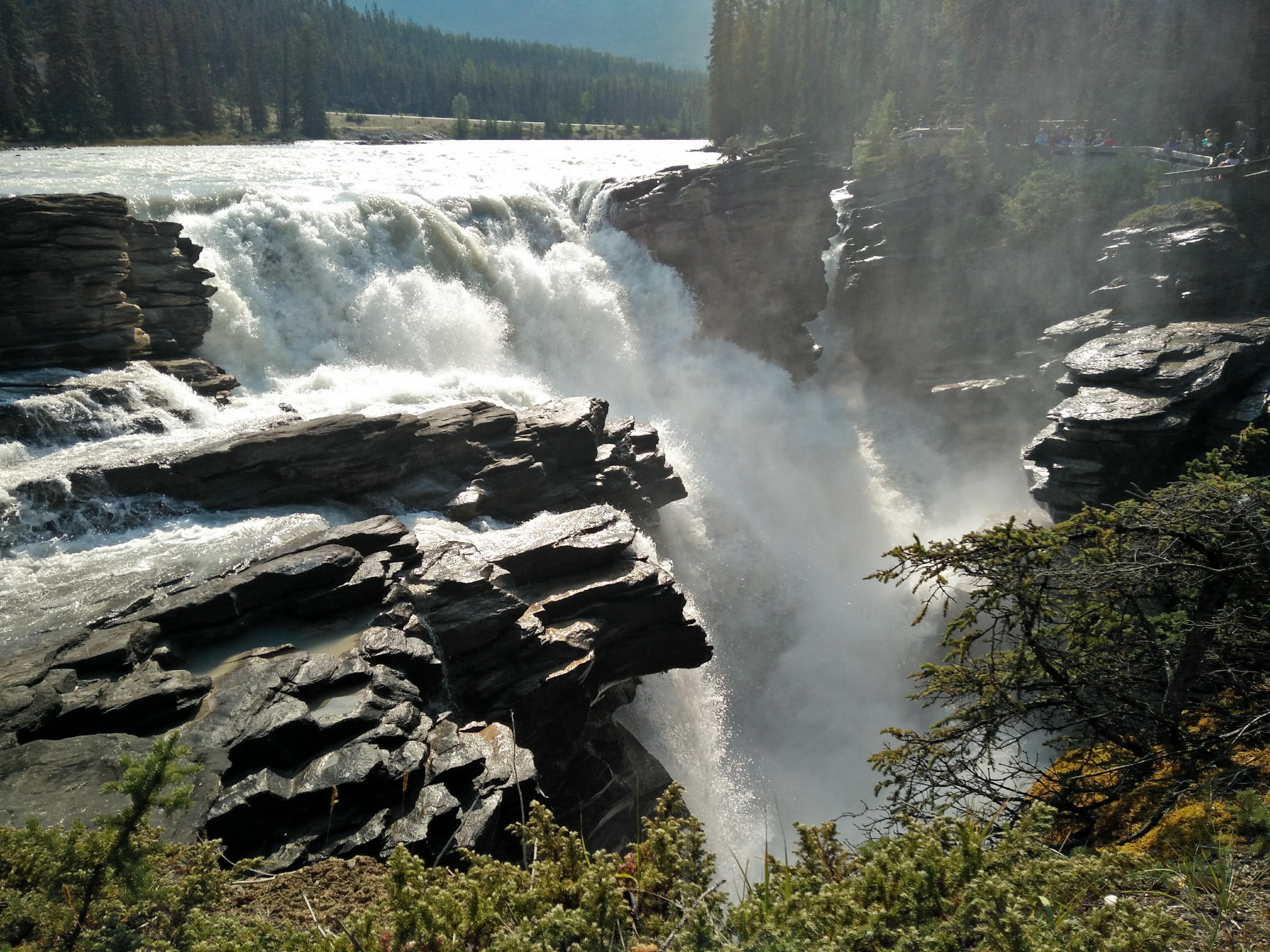 Athabasca falls jasper national park albeta canada oc