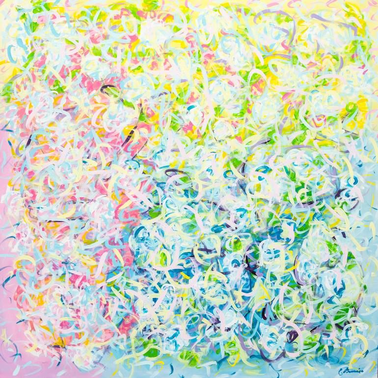 Original Abstract Painting by Cindy Bernier | Abstract Art on Canvas | LIGHTNESS OF BEING
