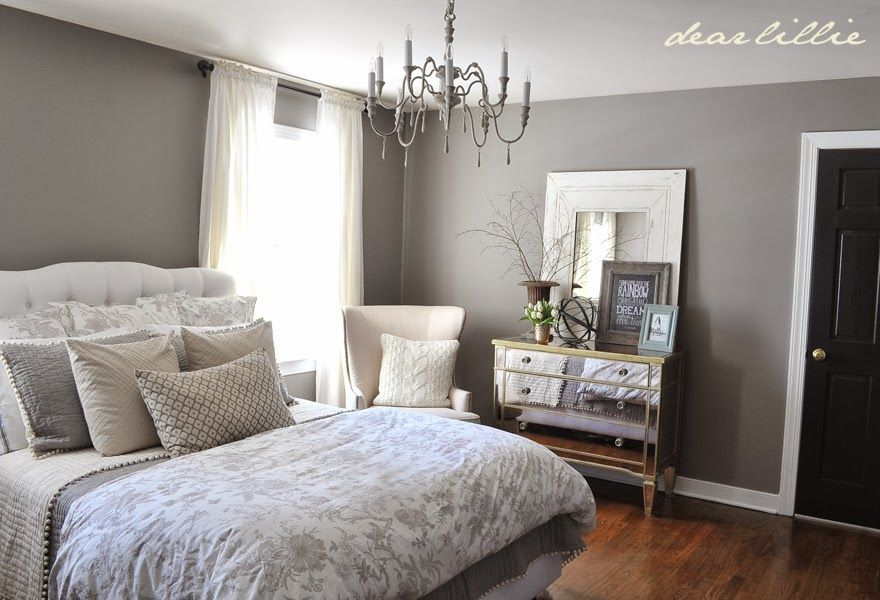 Guest bedroom 2 walls graystone benjamin moore 1475 - Paint finish for bedroom ...
