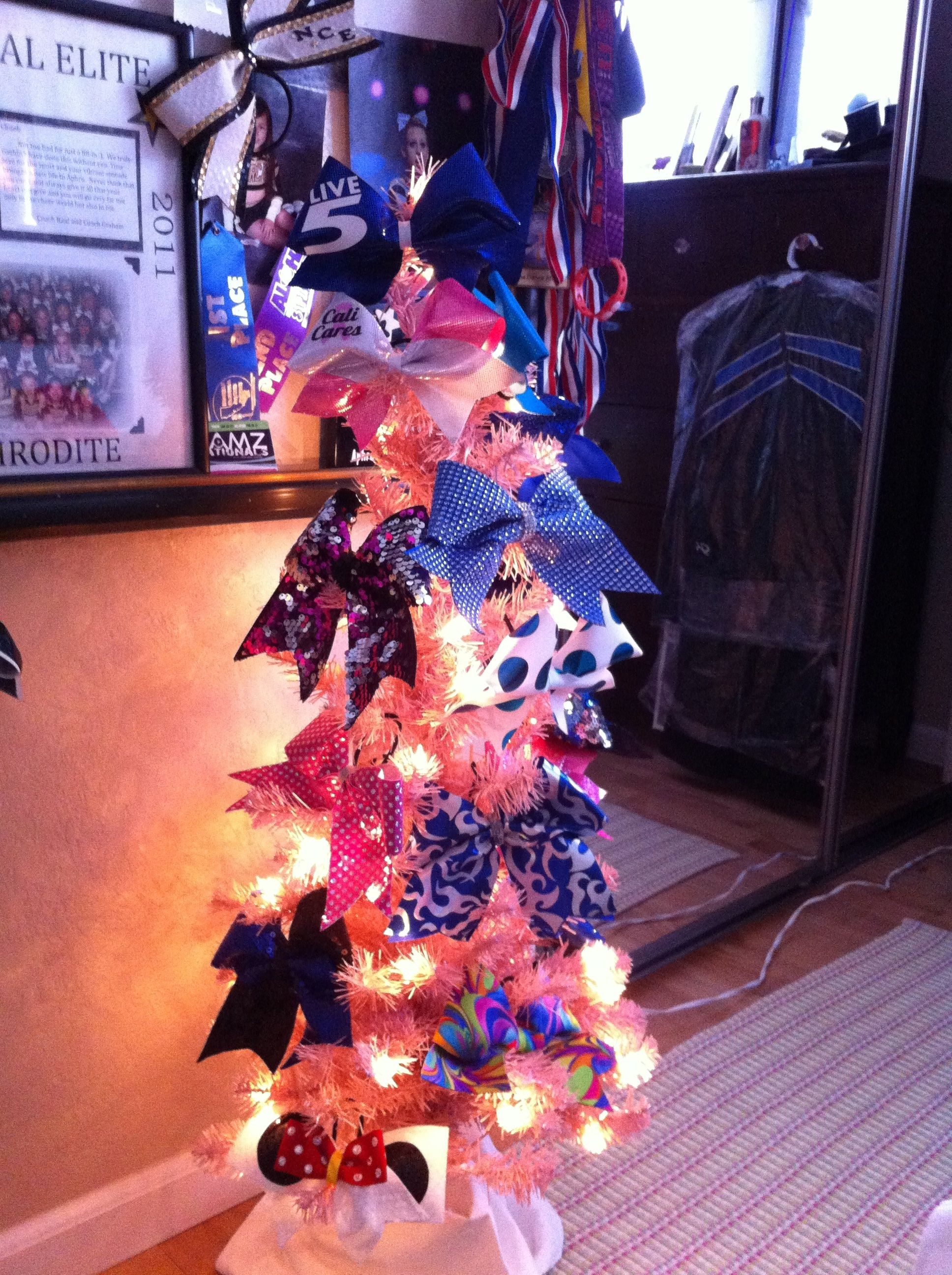 """As Kayla says....""""This is how Cheerleaders decorate a Christmas Tree""""..."""