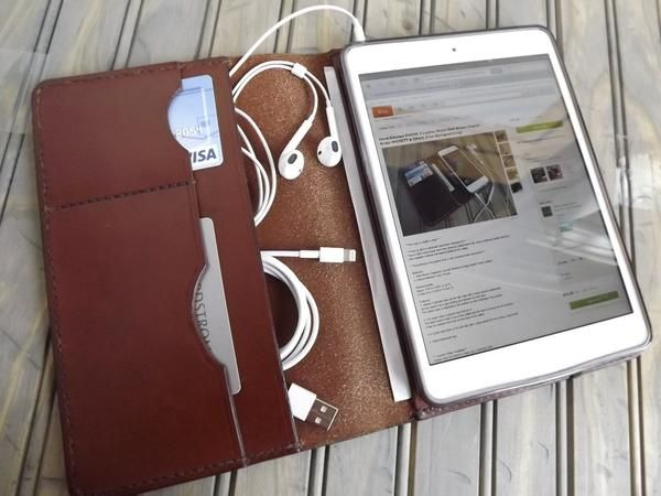 The Handmade Customizable Leather iPad Mini Case. Great for minimalists. Pretty #ingenious if you ask us!