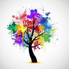 Resultado de imagen para arboles animados coloridos for Pintura color albero