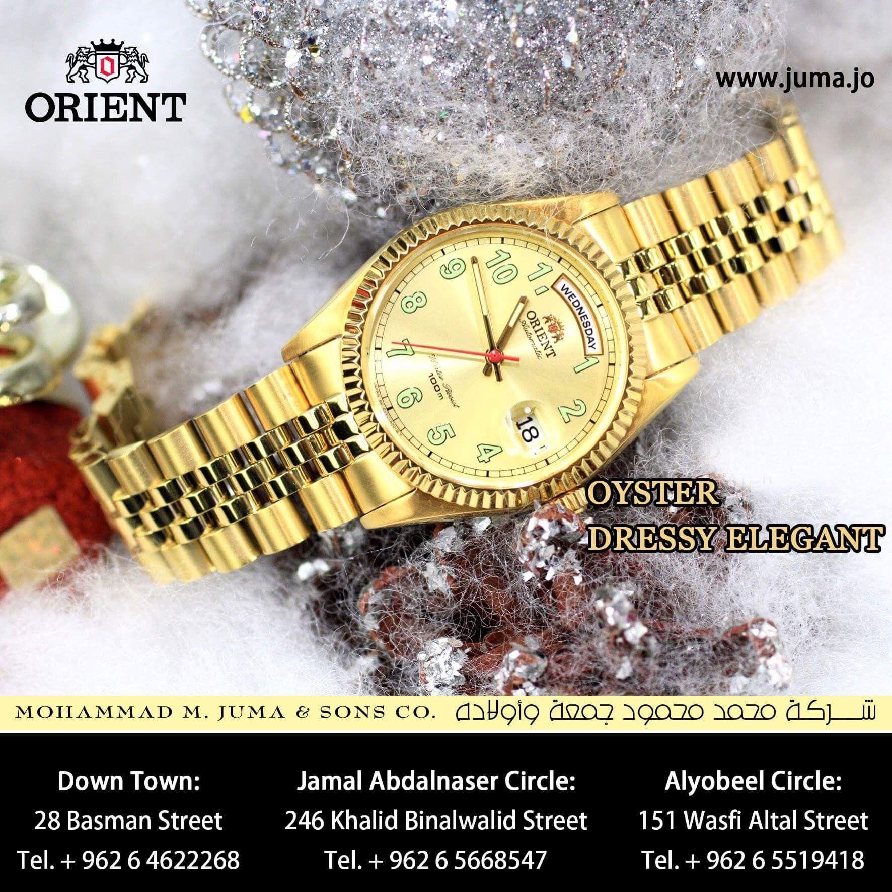 Orient Oyster Dressy Elegant Gold Orient Watch Rose Gold Watch Orient