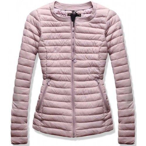 Dámská jarní podzimní bunda Coly růžová – růžová – velmi povedená dámská  prošívaná bunda – krásný střih – bez kapuce – dvě kapsy na zip – kulatý  výstřih ... 4be6666b77
