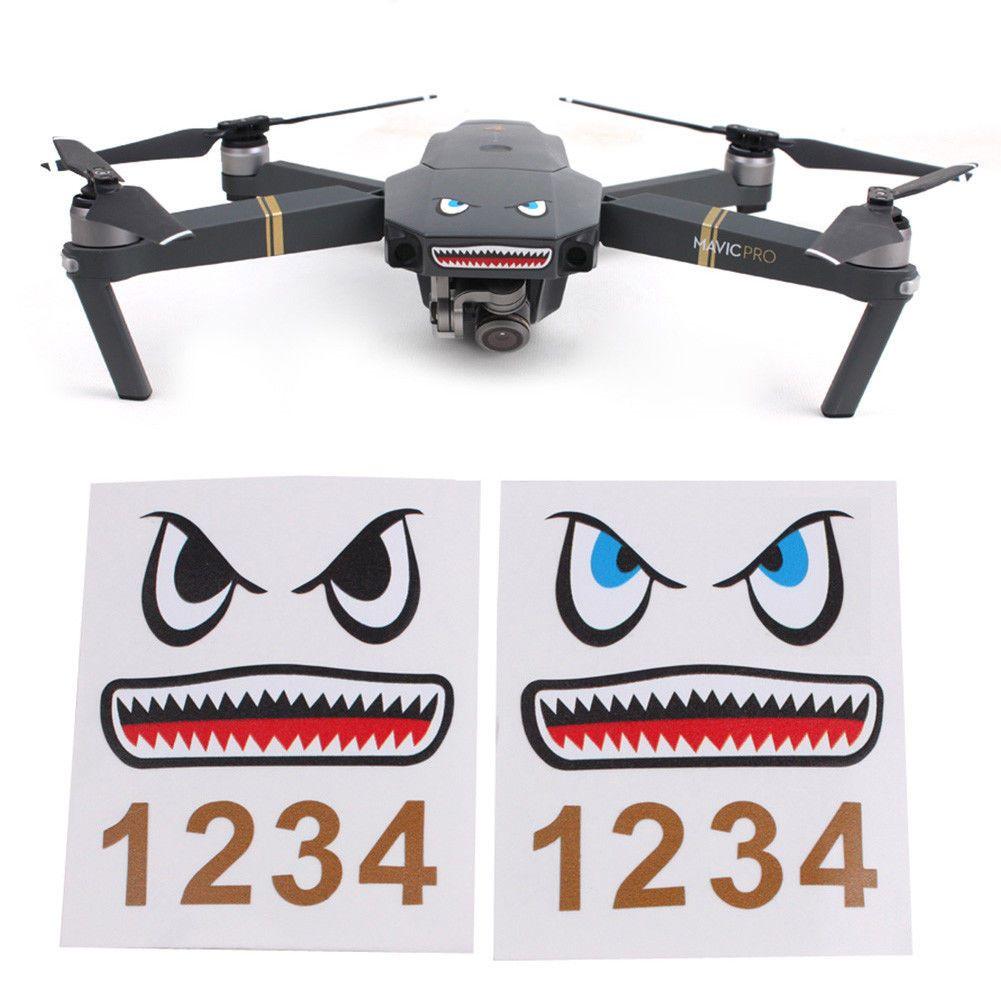 Sticker  Eyes Skin for DJI Mavic Pro Spark Phantom 3 4 Pro Drone
