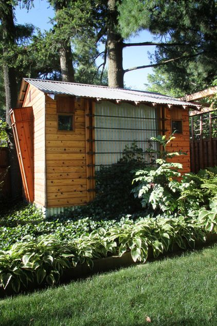 in this new jersey backyard a modern shed crafted
