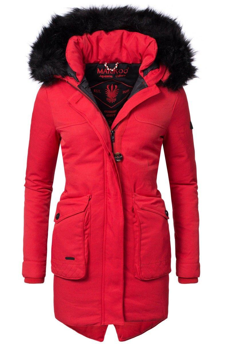 576b41f04c1f France jakke i Rød - Lækker varm vinter jakke