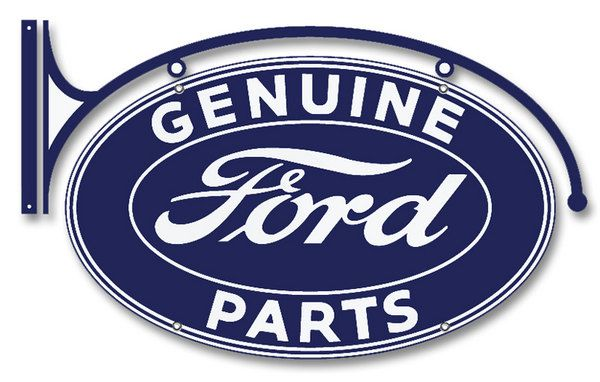 Genuine Ford Parts Double Sided Hanging Metal Advertising Sign Vintage Style Retro Reproduction Garage Art Free Shipping Fv Ds By Homedecorgarageart On