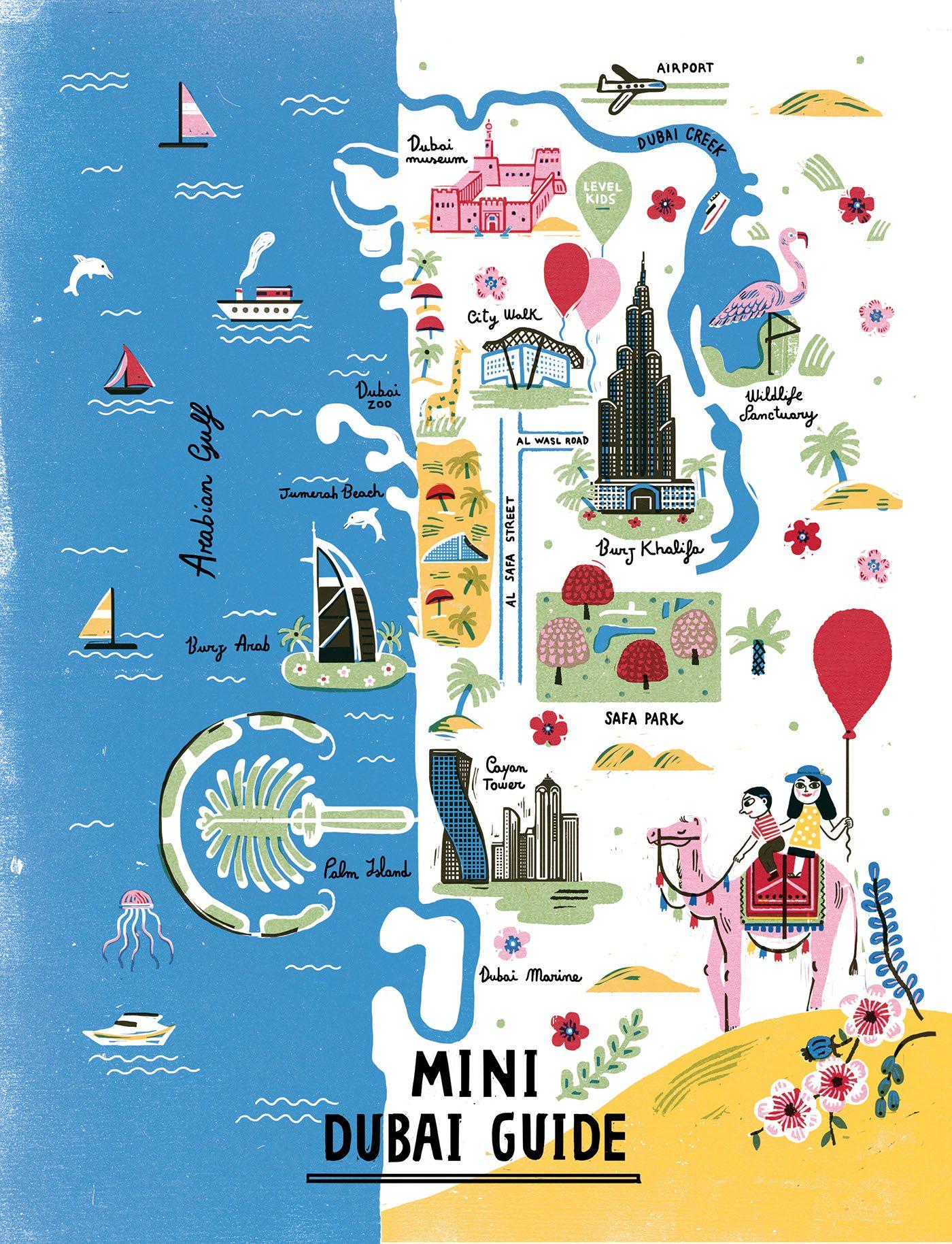 Mini Dubai Guide Vogue Kids On Behance Dubai Guide Vogue Kids Dubai Map
