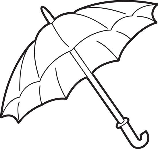 Umbrella Coloring Page | Coloring Pages | Pinterest | Embroidery and ...