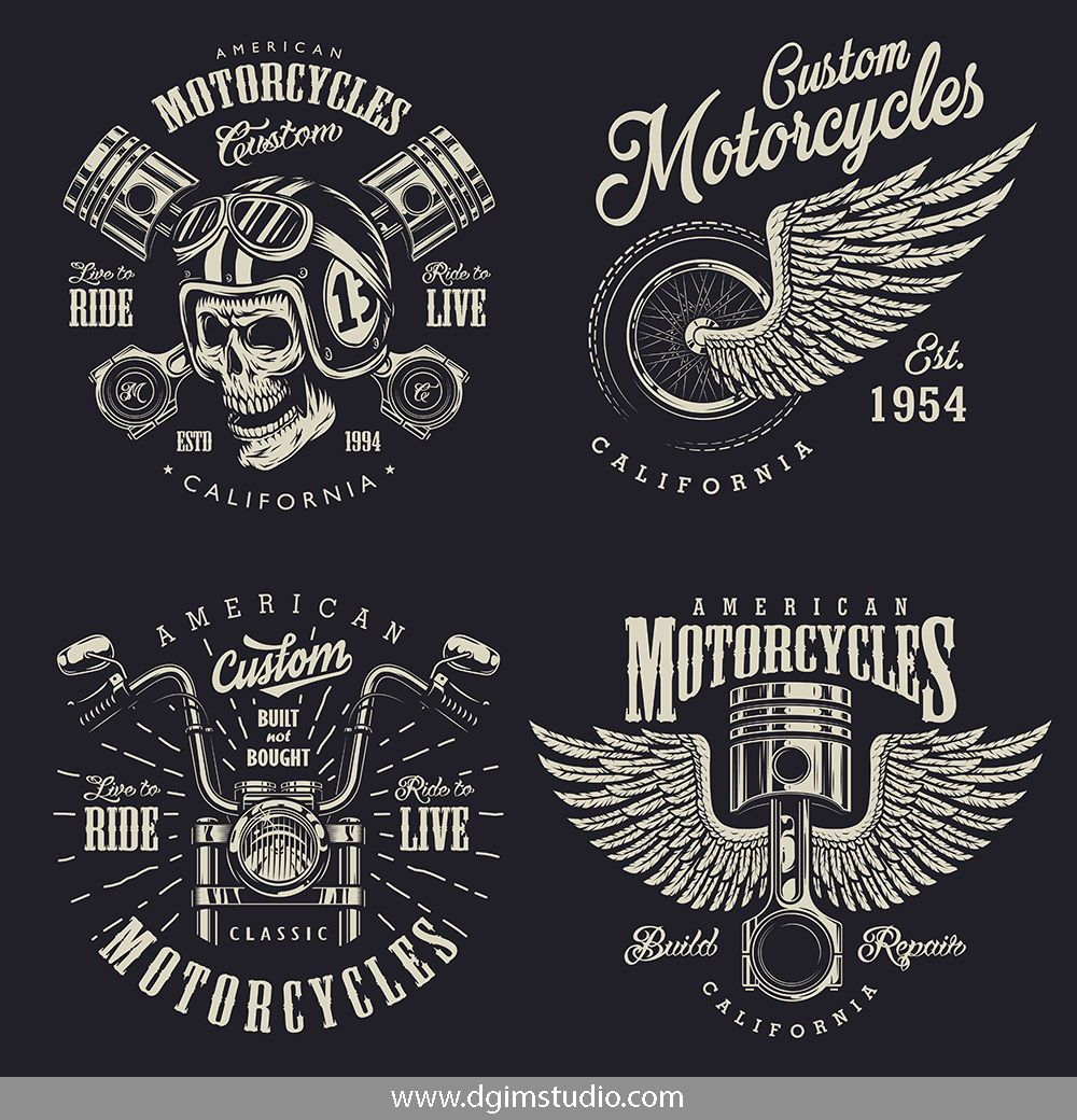 Motorcycle Bundle Bike Logos Design Motorcycles Logo Design Automotive Logo Design