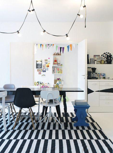 Deco Interieur Tapis Ikea Design Suedois Raye Noir Et Blanc