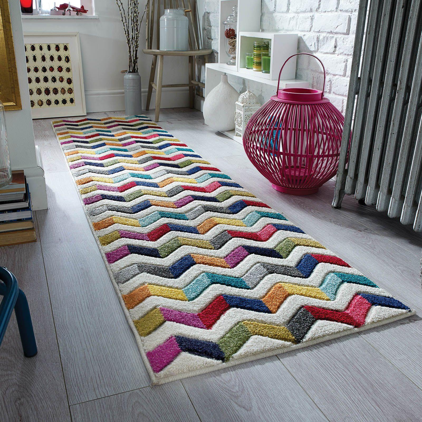 Hallway key storage  Spectrum Bolero Multicoloured Hallway Runners xcm Rug Just
