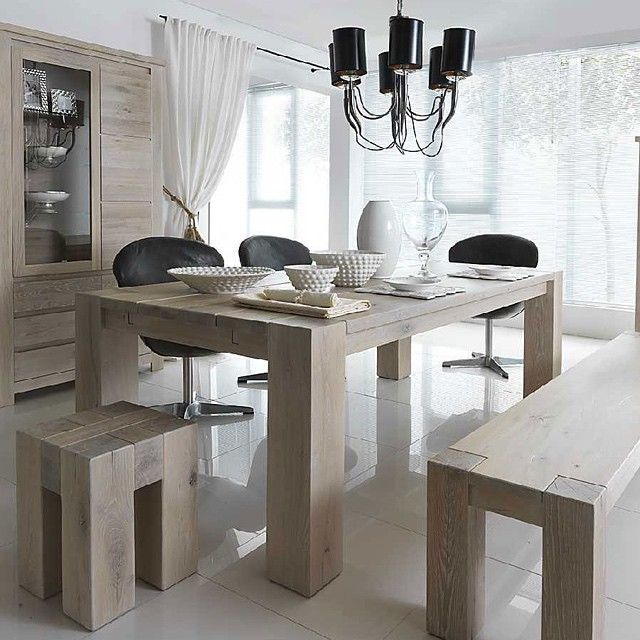 Un comedor moderno de colores pasteles y madera ...Inspírate con Gogetit!  A modern dining room in pastel colors and wood ...Get inspired with Gogetit!