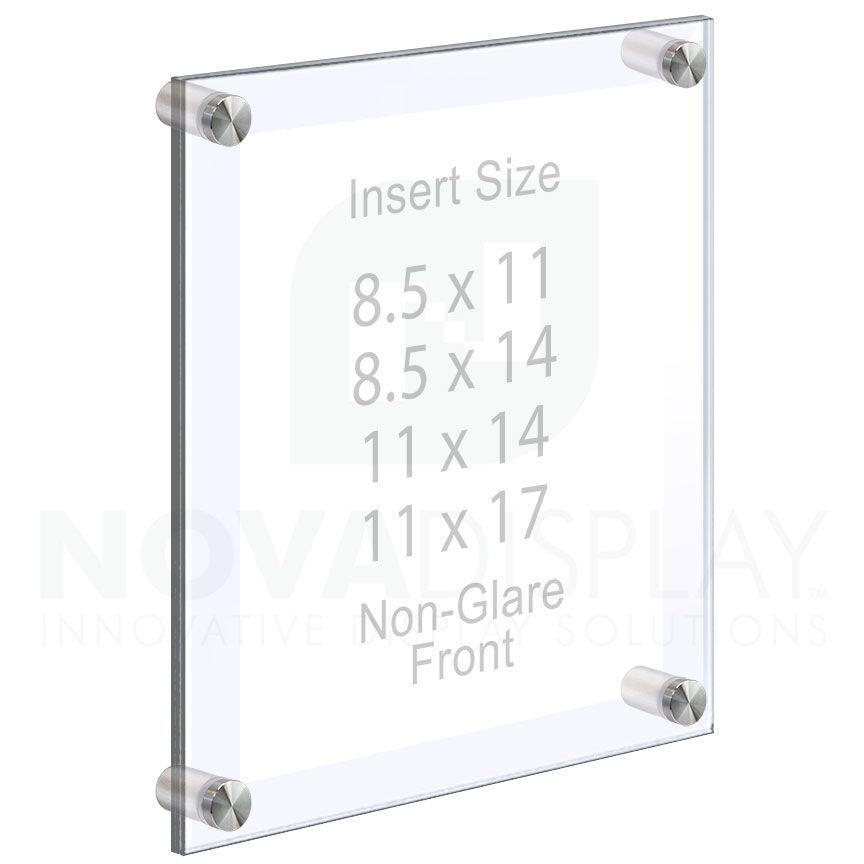 Acrylic Wall Frames With Standoffs Clear Non Glare Acrylic Set Qty 4 In 2020 With Images Floating Acrylic Frame Poster Frame Acrylic Set