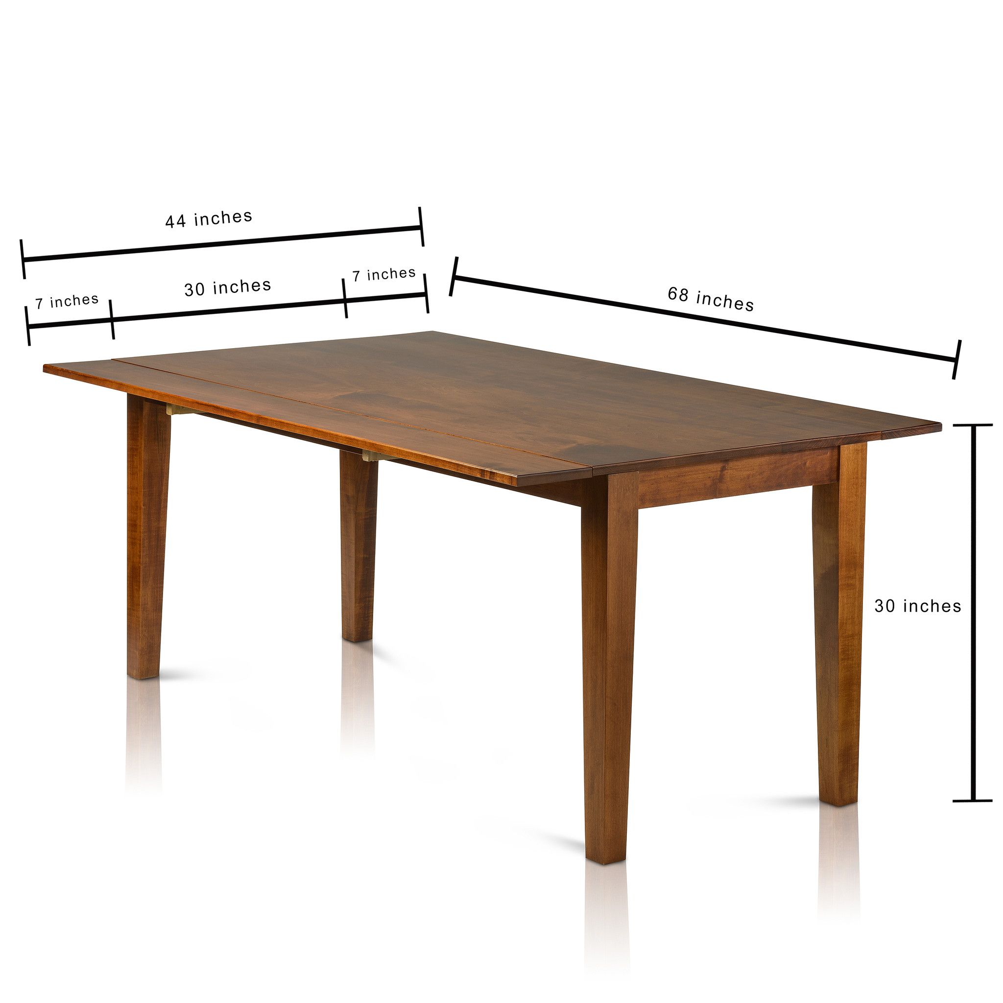 Drop Leaf Rectangle Solid Maple Table   Dining table in ...
