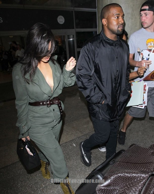 7c7bbc93271 Kanye West in the adidas Yeezy Boost 350 V2 Black White .