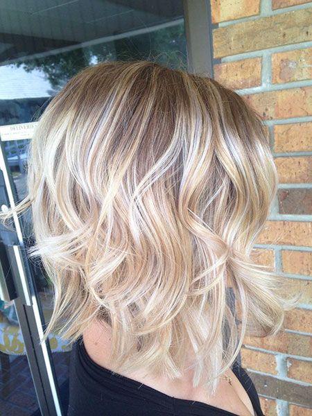 Beachy Waves Kurzes Haar Blondes Haar Hairtyles Balayage Beauty