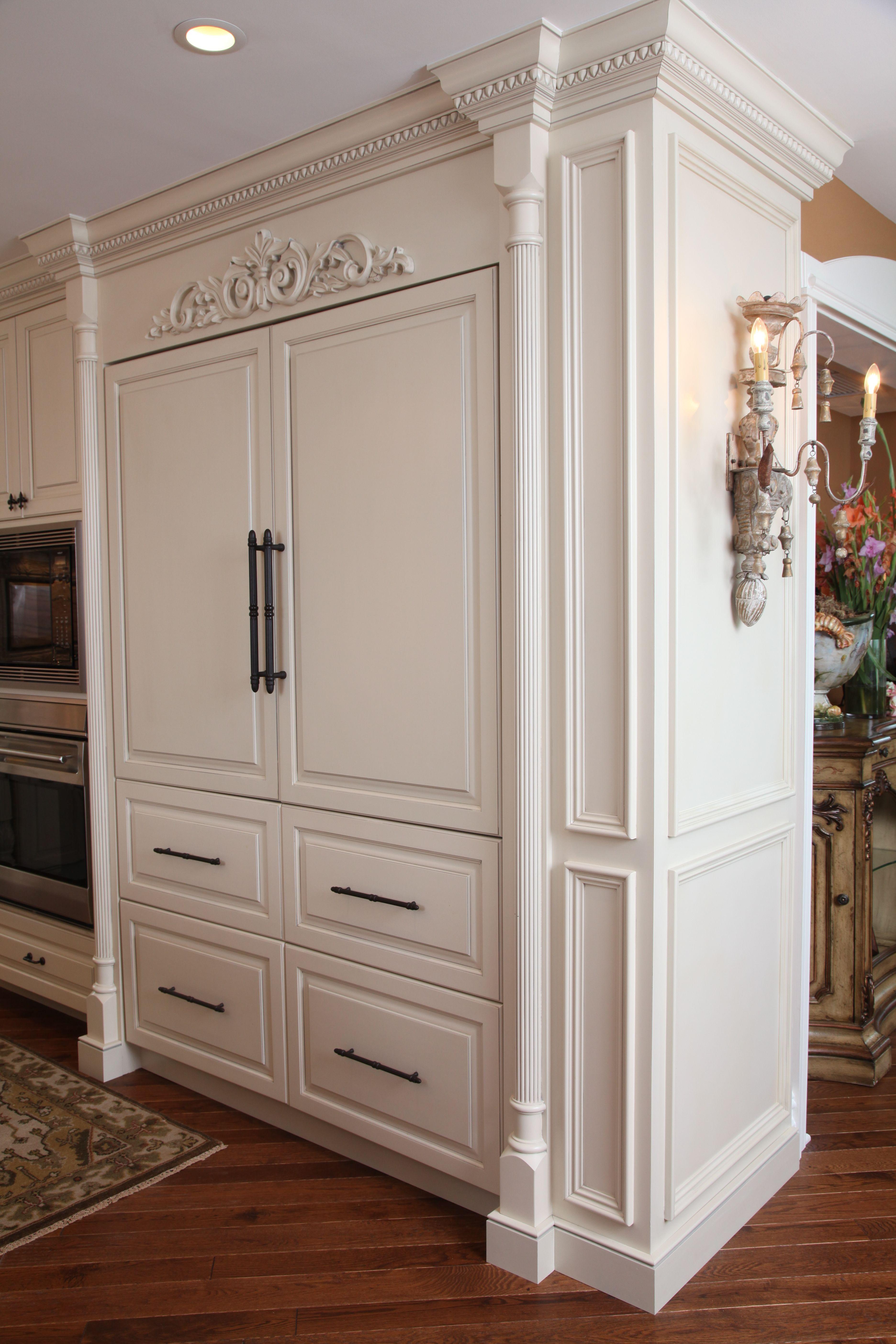 Custom Refrigerator Cabinetry by CVL Designs, Ocean City ...