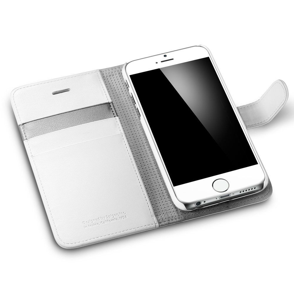 Amazoncom Iphone 6 Plus Case Spigen Stand Feature Xs X Anti Shock With Slim Armor Casing Satin Silver 55 Wallet S White Premium Flip Cover For