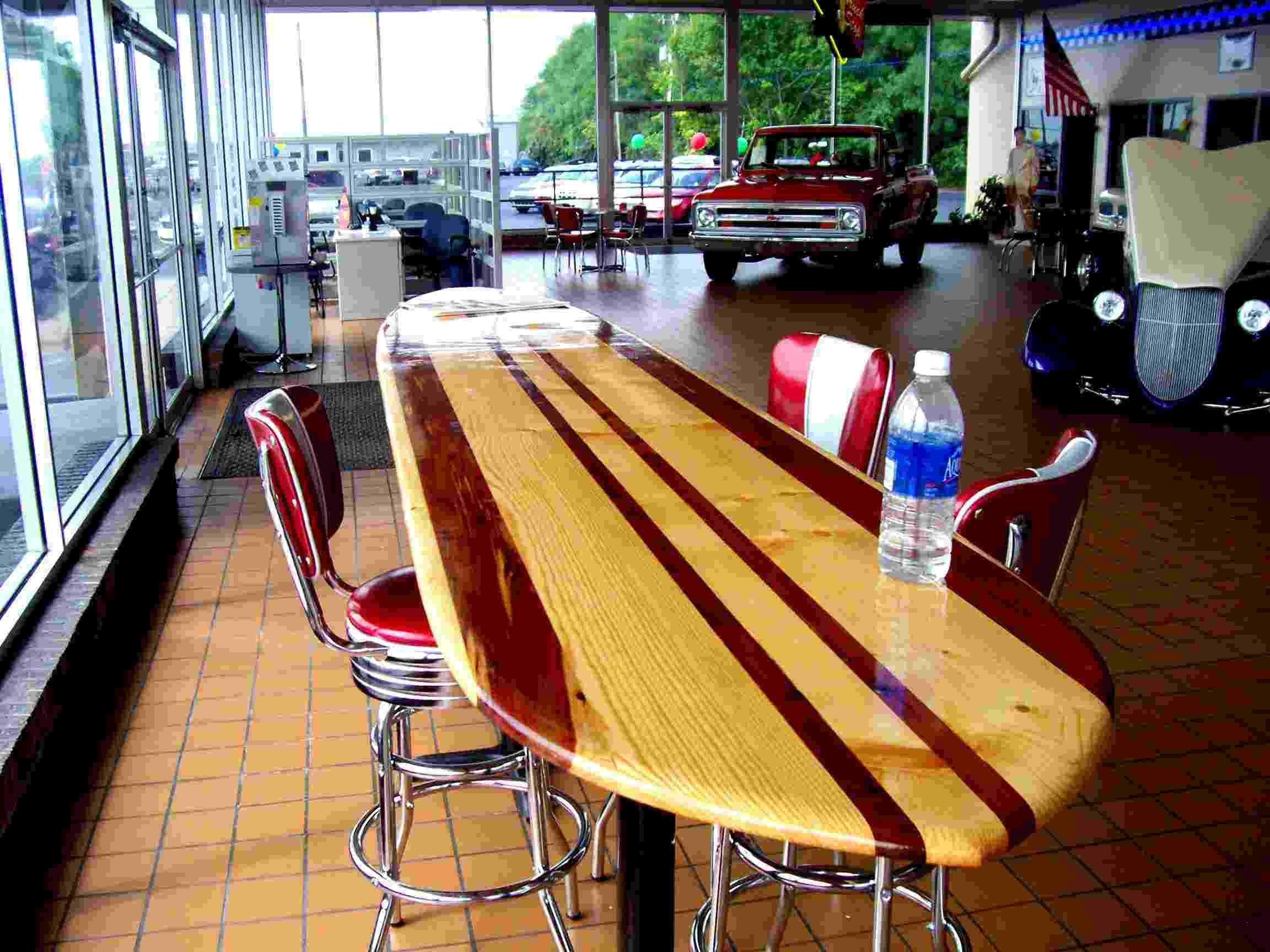 love this surfboard table surf decor surfboard table surfboard rh pinterest com