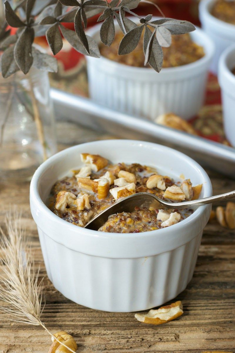 Baked Whole Grain Pumpkin Hot Cereal An Unrefined Vegan