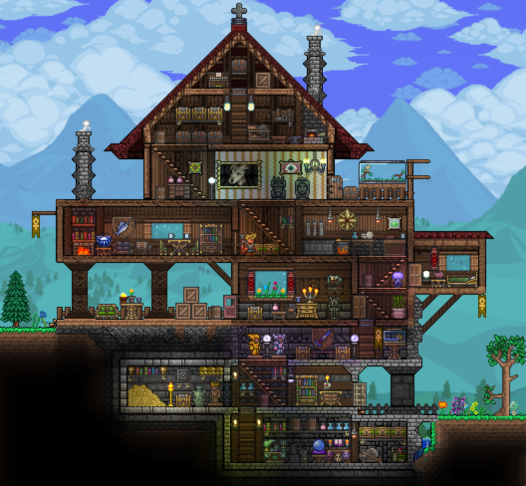 Pin By D G On Terraria Terraria House Design Terraria