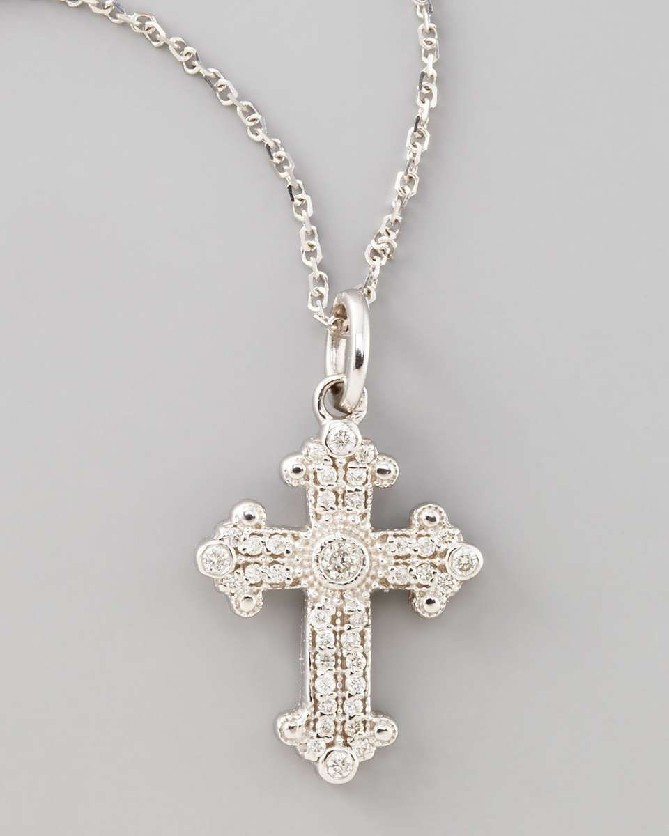 Kc designs byzantine cross necklace white gold kcdesigns cross kc designs byzantine cross necklace white gold kcdesigns cross necklace mozeypictures Image collections