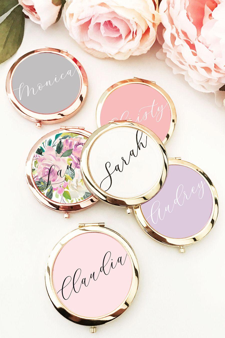 Bride/'s Entourage /& Bride To Be Personalised Pocket Mirror