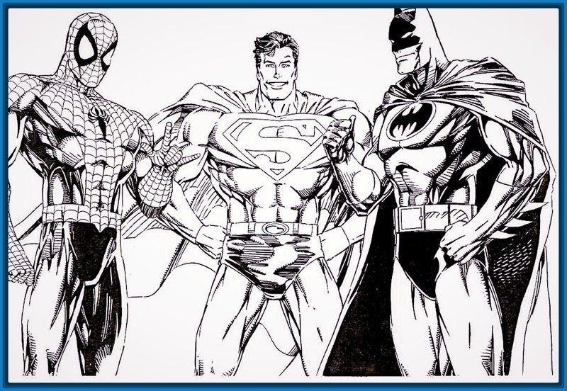 Dibujos Para Colorear De Batman Y Spiderman Archivos