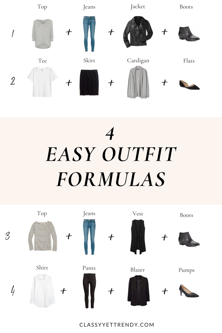 72e60679f6f9e 4 Easy Outfit Formulas - use these outfit ideas to get dressed quickly  every day! You can mix and match your wardrobe using a striped top, tee,  shirt, jeans ...