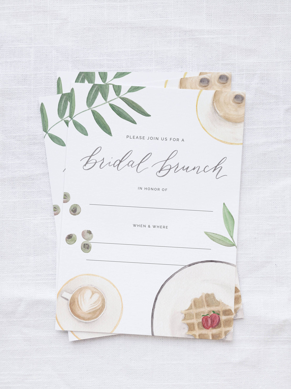 brunch bridal shower invitation set bridal brunch invitation