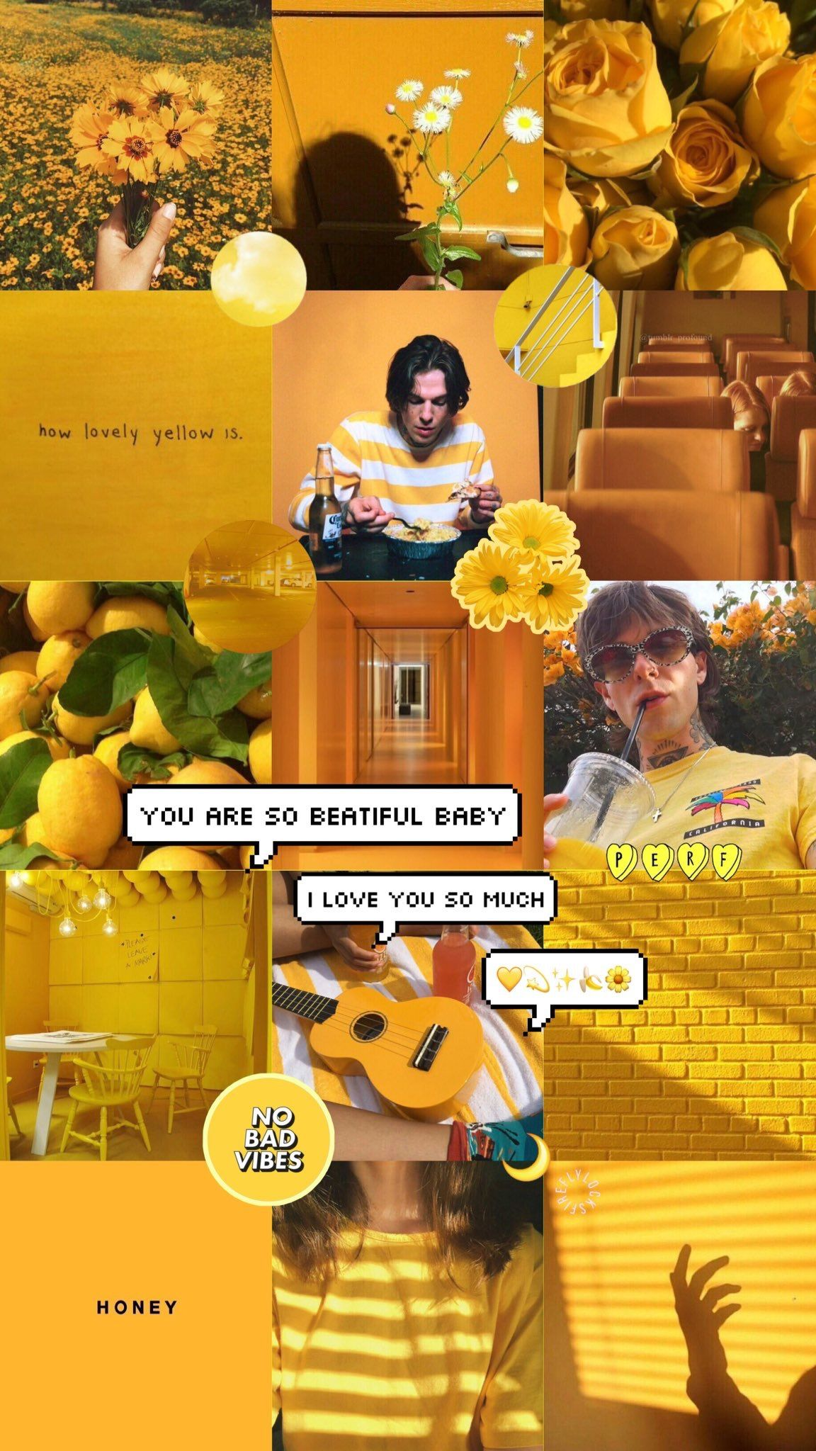Pin By Cass On Fandom Wallpapers In 2019 Yellow Aesthetic
