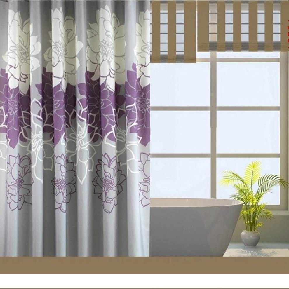 Extra Wide Shower Curtain Liner 92 Bathroom CurtainsPurple CurtainsLong