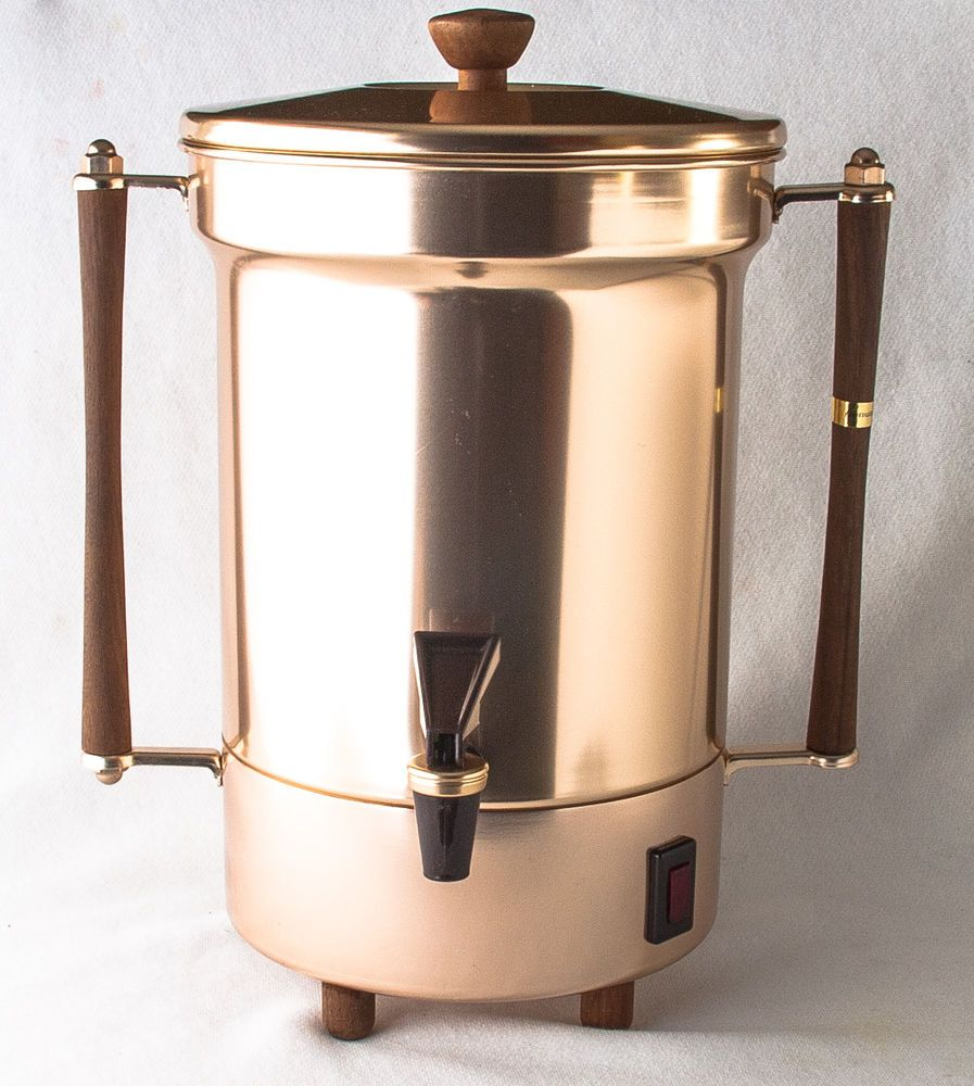 Coffee Maker Samovar 30c. Enterprise Alum. Co. Brushed