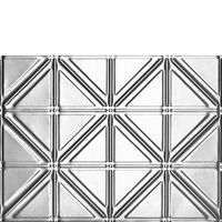 Best pricing for real tin ceilings. Not the plastic stuff loke Lowes carries. After 14 years, I still love my copper backsplash! This product would look great in a small bathroom!