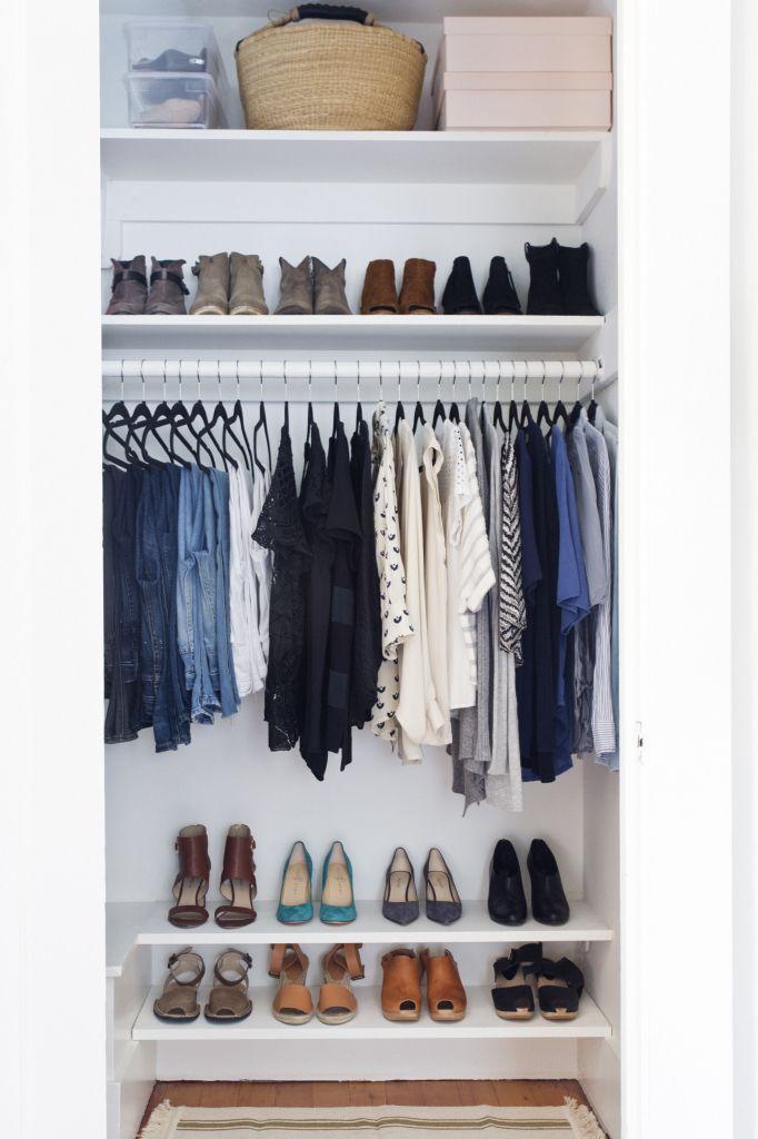 How To Set Up A Stylish Organized Closet Simple Closet