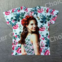 Pista Ship + Retro Vintage geniales Rock & Roll Punk T-shirt Top Del dulce modelo de Lana Del Rey sonrisa flor roja 0800(Hong Kong)