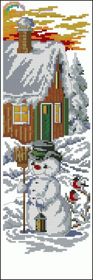 "Free cross-stitch design ""Winter fairy tale"" | Cross-Stitch Club"