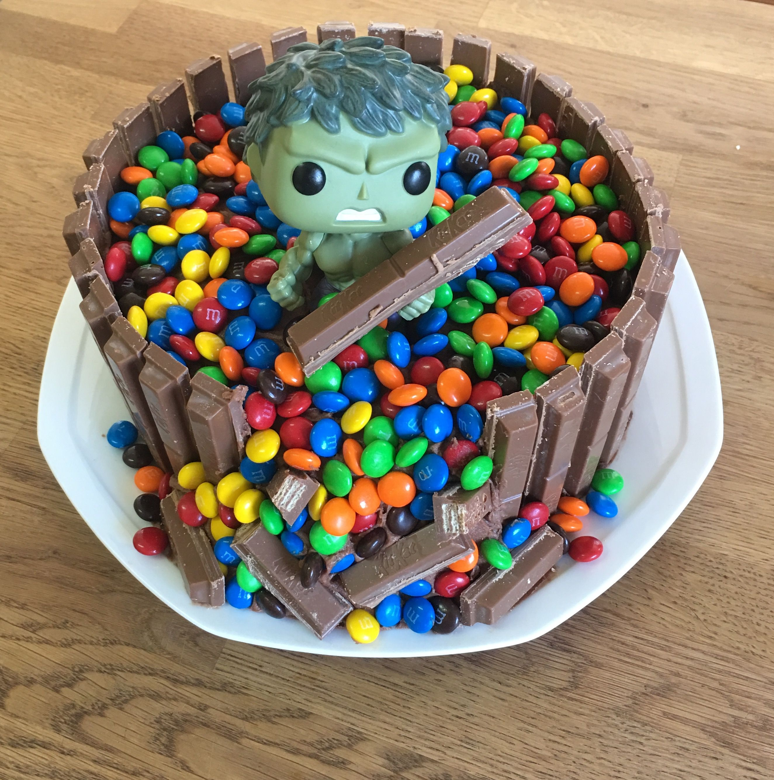 Our Version Of A Hulk Birthday Cake For 9 Year Old Boy He Loved It
