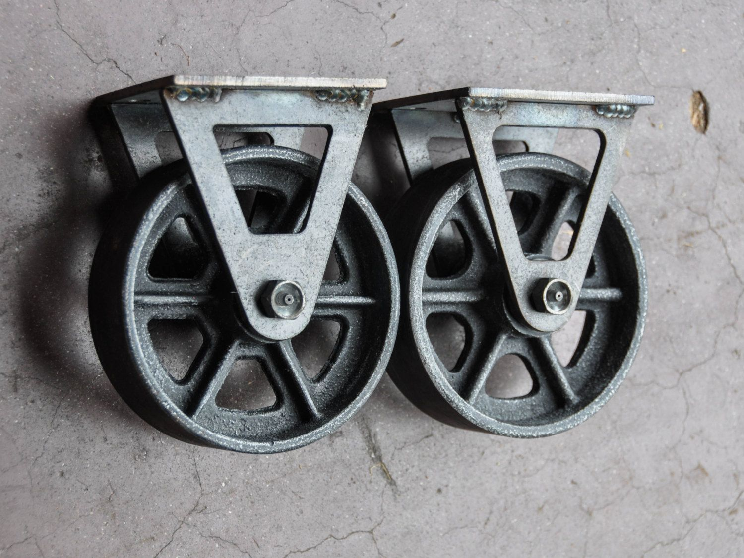 Antique Reproduction Caster Wheels 6fc By Vintageindustrial