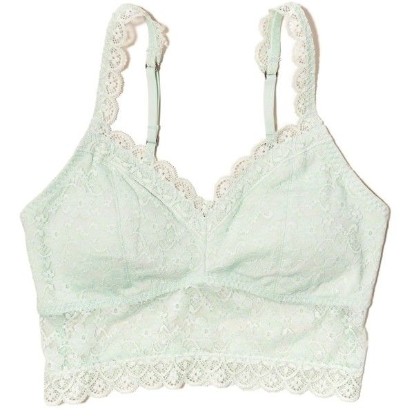 bb5708a59f2e67 Hollister Gilly Hicks Removable-Pads Lined Lace Bralette (£6.76) ❤ liked on  Polyvore featuring intimates