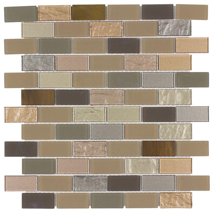 - Glass Tile Backsplash Italy 1x2 Mosaic Wall Tiles, Metallic Wall