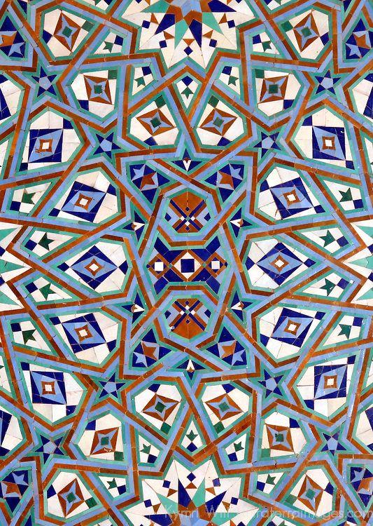 Morocco Han Ii Mosque Mosaic Ic Tile Detail Canvas Art Kymri Wilt Danitadelimont X