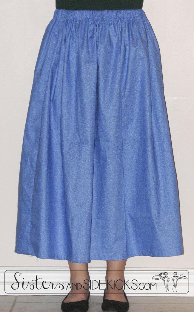 6ff6d3d028 Sew a simple elastic-waist pioneer skirt | DIY Sewing | Pioneer ...