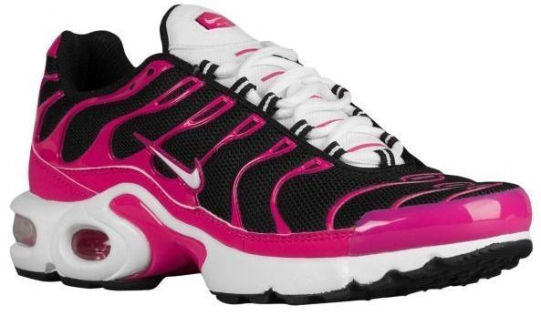 NEW NIKE AIR MAX PLUS TN Running Womens 8.5 (7Y) Black Pink Limited 718071  016  Nike  Running 214525d078